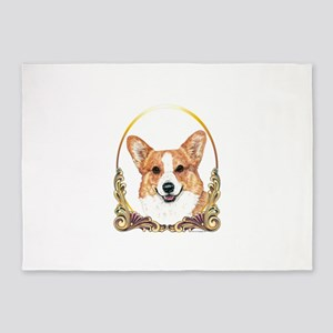 Pembroke Welsh Corgi Holiday 5'x7'Area Rug