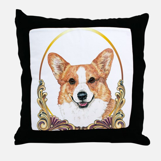 Pembroke Welsh Corgi Holiday Throw Pillow