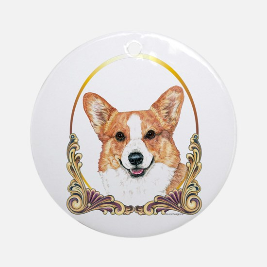 Pembroke Welsh Corgi Holiday Round Ornament