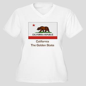 California State Flag Women's Plus Size V-Neck T-S