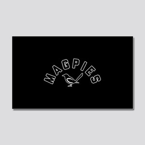 Newcastle Magpies Car Magnet 20 x 12