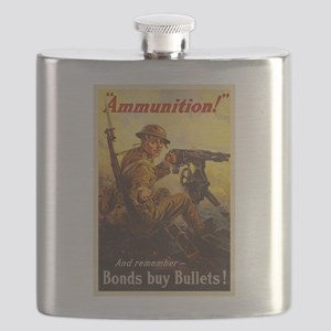 US War Bonds Ammunition WWI Propaganda Flask