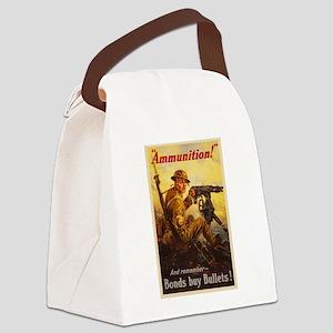 US War Bonds Ammunition WWI Propa Canvas Lunch Bag