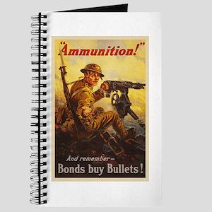 US War Bonds Ammunition WWI Propaganda Journal