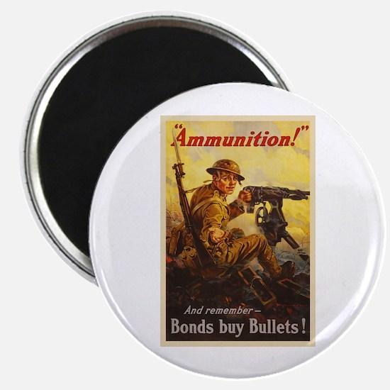 """US War Bonds Ammunition WW 2.25"""" Magnet (100 pack)"""