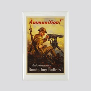 US War Bonds Ammunition WWI Propa Rectangle Magnet