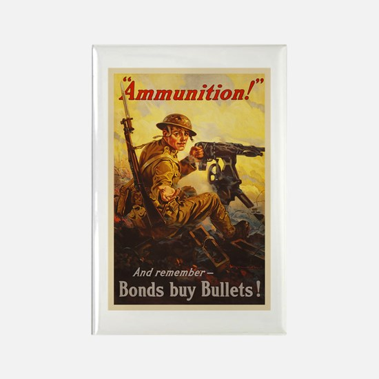 US War Bonds Ammunition WWI Propa Rectangle Magnet