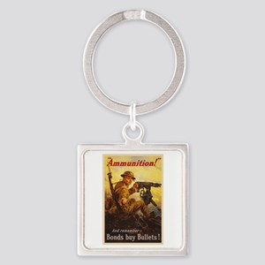 US War Bonds Ammunition WWI Propag Square Keychain