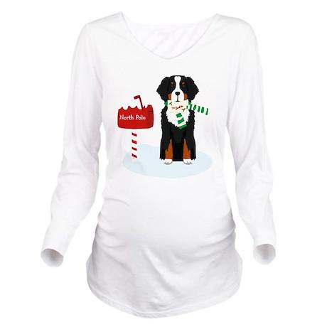 Bernese Mt Dog Lette Long Sleeve Maternity T-Shirt