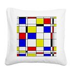 Mondrian-3a Square Canvas Pillow