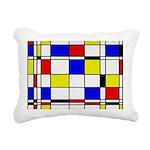 Mondrian-3a Rectangular Canvas Pillow