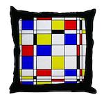 Mondrian-3a Throw Pillow