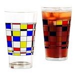 Mondrian-3a Drinking Glass