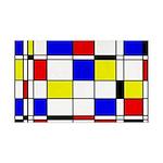 Mondrian-3a 35x21 Wall Decal