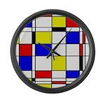 Mondrian-3a Large Wall Clock