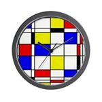 Mondrian-3a Wall Clock
