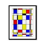 Mondrian-3a Framed Panel Print