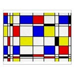 Mondrian-3a Small Poster