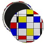 Mondrian-3a Magnet Magnets