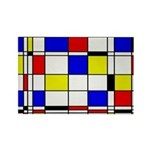 Mondrian-3a Rectangle Magnet Magnets