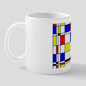 Mondrian-3a Mug Mugs