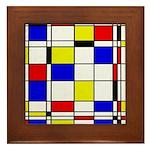 Mondrian-3a Framed Tile