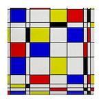 Mondrian-3a Tile Coaster