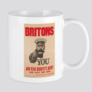 Britons Lord Kitchener Wants You WWI Pr Mug