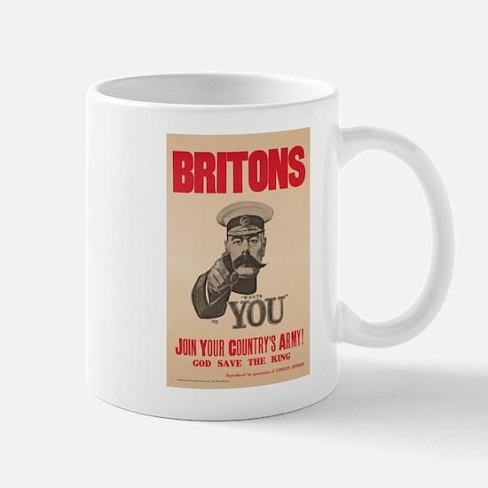 Britons Lord Kitchener Wants You WWI Pr Mug
