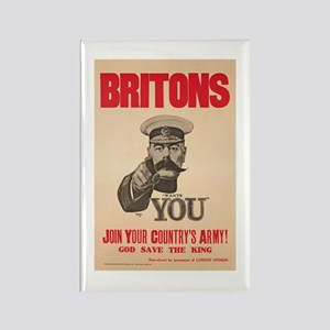 Britons Lord Kitchener Wants You Rectangle Magnet