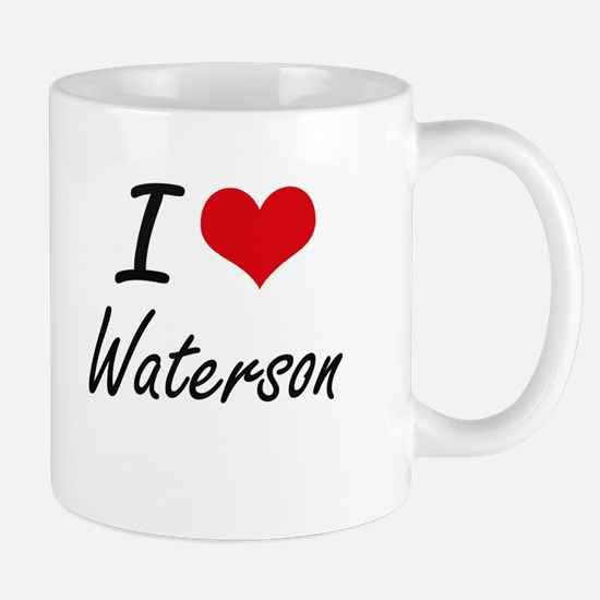 I Love Waterson artistic design Mugs