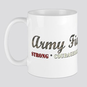 Army Fiance:Strong Courageous Mug