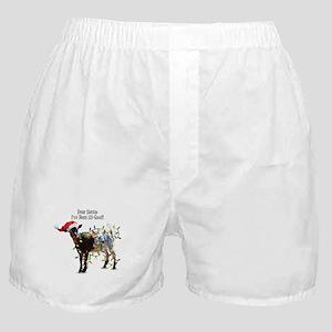 Christmas Goat I've Been So Good Boxer Shorts