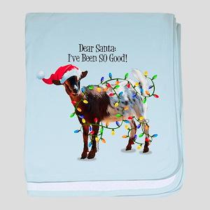 Christmas Goat I've Been So Good baby blanket
