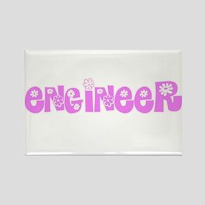 Engineer Pink Flower Design Magnets