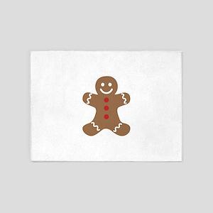 Christmas Gingerbread Man 5'x7'Area Rug