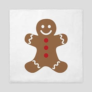 Christmas Gingerbread Man Queen Duvet
