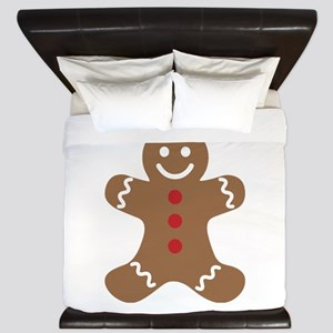 Christmas Gingerbread Man King Duvet