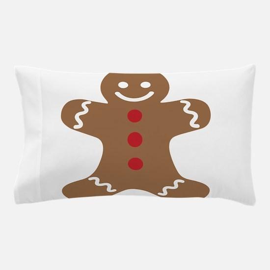 Christmas Gingerbread Man Pillow Case