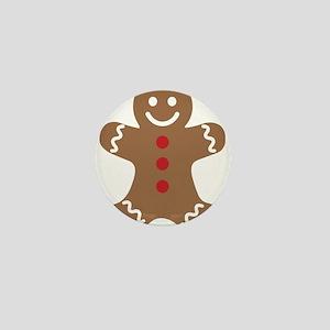 Christmas Gingerbread Man Mini Button