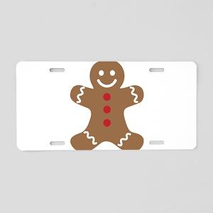 Christmas Gingerbread Man Aluminum License Plate