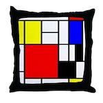 Mondrian-4a Throw Pillow