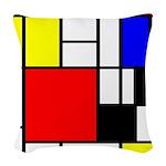 Mondrian-4a Woven Throw Pillow