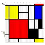 Mondrian-4a Shower Curtain