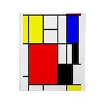 Mondrian-4a Throw Blanket
