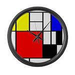 Mondrian-4a Large Wall Clock
