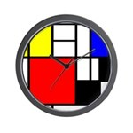Mondrian-4a Wall Clock