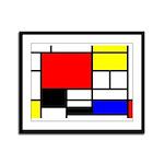 Mondrian-4a Framed Panel Print