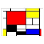 Mondrian-4a Large Poster