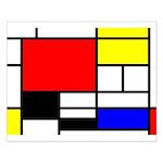 Mondrian-4a Small Poster